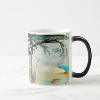 Lonely Cedar Tree Landscape Painting Magic Mug