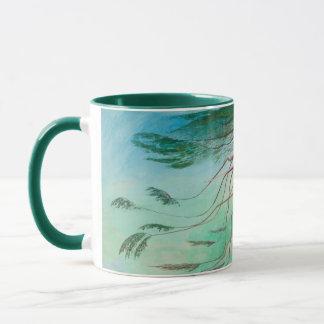 Lonely Cedar Tree Landscape Painting Mug