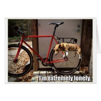 Lonely Corgi greeting card
