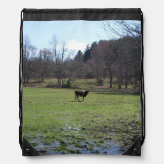 Lonely Cow Cinch Bag