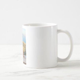 Lonely dog watching on Gibraltar strait Coffee Mug