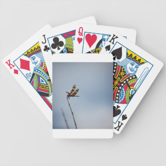 lonely dragonfly bicycle playing cards