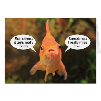Lonely Fish Card