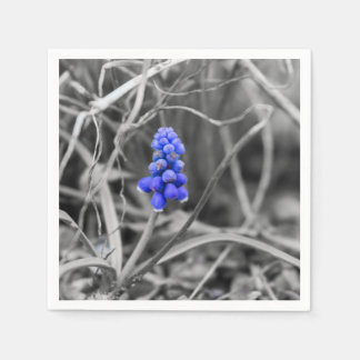 Lonely Grape Hyacinth Select Color Paper Napkins