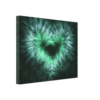 Lonely heart Abstract Art Wrapped Canvas Print