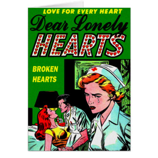 Lonely Heart Nurse - Love Romance Art Card