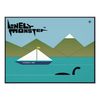 Lonely Monster and Yacht Photo Print