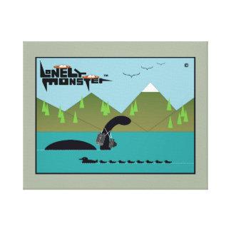 Lonely Monster Birdwatcher Canvas Print