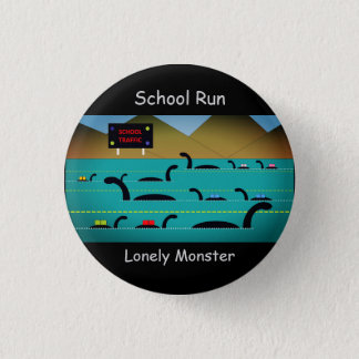 "Lonely Monster Cartoon Badge (1.25"") 1 Inch Round Button"