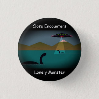 "Lonely Monster Cartoon Badge Mark 1 (1.25"") 1 Inch Round Button"