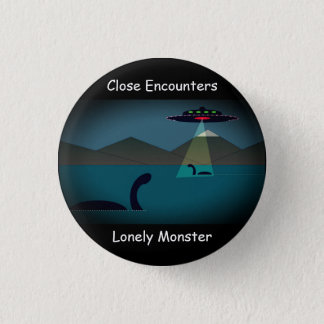 """Lonely Monster Cartoon Badge Mark 2 (1.25"""") 1 Inch Round Button"""