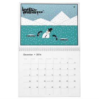 Lonely Monster Cartoon Calendar