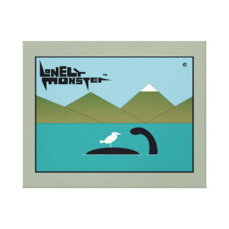 Lonely Monster Pet Bird Canvas Print