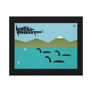 Lonely Monster Race Canvas Print