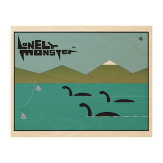 Lonely Monster Race Wood Wall Art
