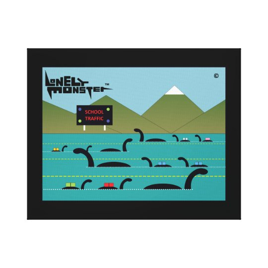 Lonely Monster School Run Canvas Print