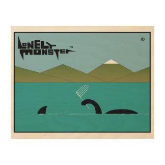 Lonely Monster Sharkhunter Wood Wall Art