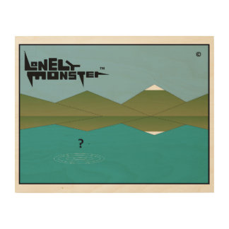 Lonely Monster? Wood Print