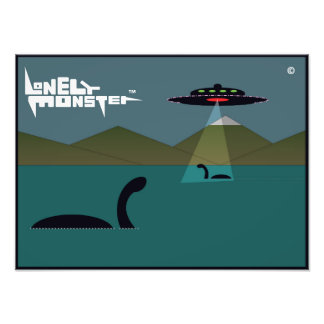 Lonely Monsters and UFO Photo Print