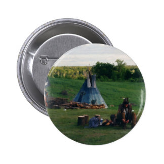 Lonely Native American Indian 2 Inch Round Button