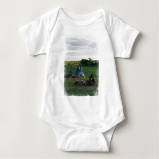 Lonely Native American Indian Baby Bodysuit