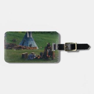Lonely Native American Indian Bag Tag