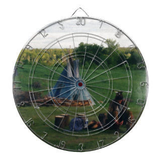 Lonely Native American Indian Dartboard