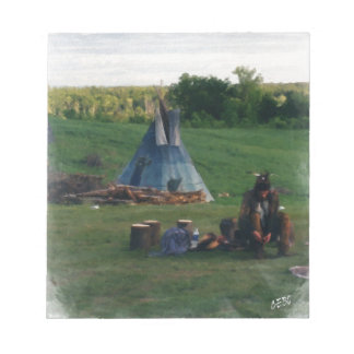 Lonely Native American Indian Notepad