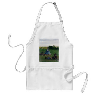 Lonely Native American Indian Standard Apron