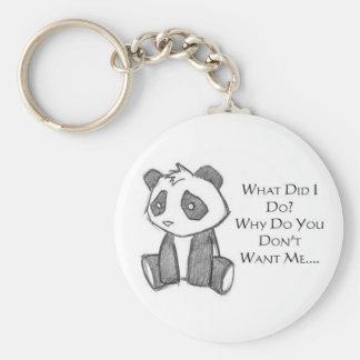 Lonely Panda Keychain