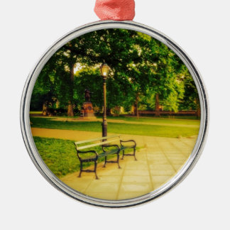 Lonely Park Bench Metal Ornament