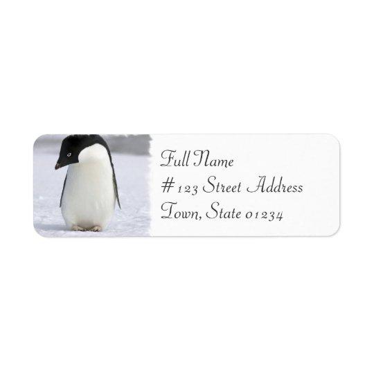 Lonely Penguin Return Address Mailing Label