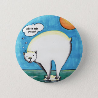 Lonely Polar Bear Pin