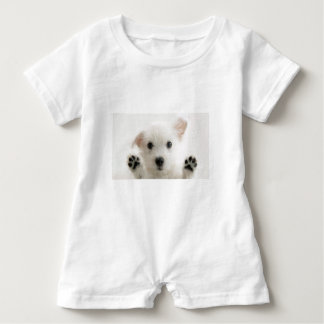 Lonely Puppy Baby Romper