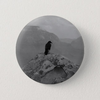 Lonely Raven 2 Inch Round Button
