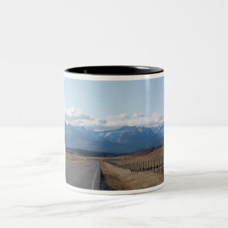 Lonely road to the top Two-Tone coffee mug