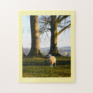 Lonely sheep jigsaw puzzle
