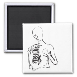 lonely skele square magnet