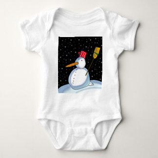 Lonely Snowman Baby Bodysuit