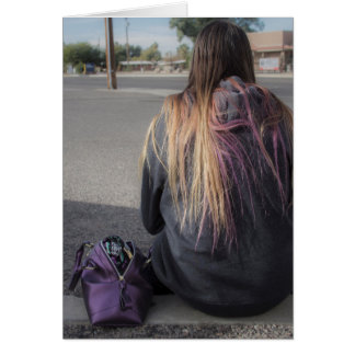 Lonely Teen Alone Photograph Greeting Card