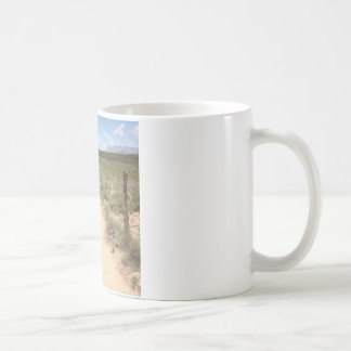 Lonely trail in East Texas with Guadalupe peak Coffee Mug