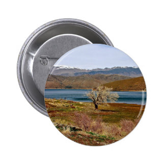 LONELY TREE AT THE EDGE OF TOPAZ LAKE PINBACK BUTTON