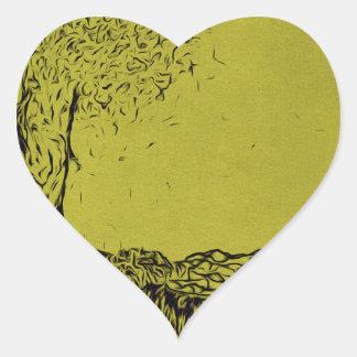 Lonely Tree Heart Sticker