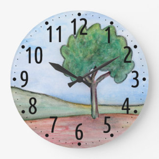 Lonely tree large clock