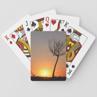 Lonely Tree Silhouette Playing Cards