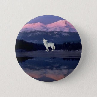 Lonely Wolf 2 Inch Round Button