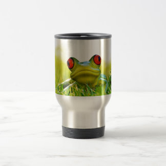 Lonesome Frog In The Grass Travel Mug