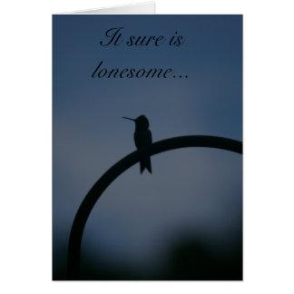 Lonesome Hummingbird Card