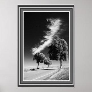 """""""Lonesome Skyway""""  13 x 19  B&W Poster"""