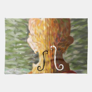 Lonessia V1 - violin beauty Kitchen Towel